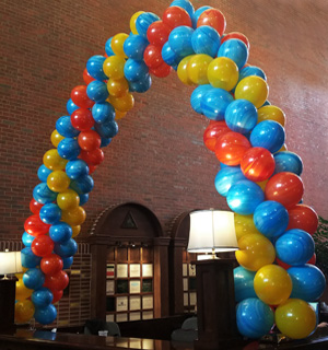 Spiral Balloon Arches by Jessica's Balloons in Arvada, Colorado