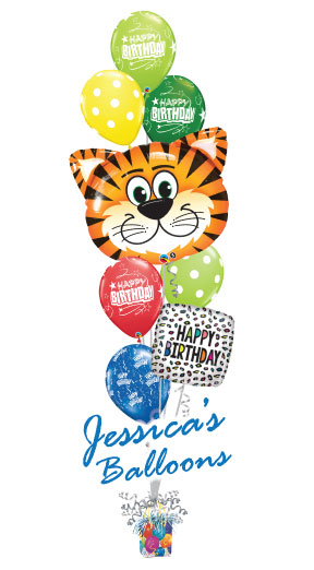 Balloon Bouquet Tiger