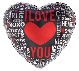 I Love Your 18 inch Heart Mylar Balloon