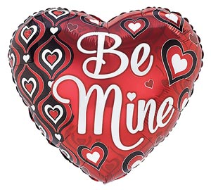 Be Mine 18 inch Heart Mylar Balloon