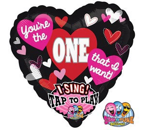 36 inch singing mylar heart shapped balloons Your the One that I want