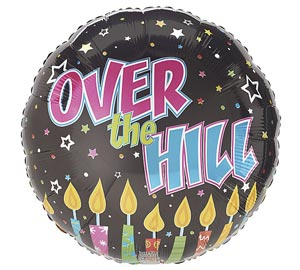Colorful Over the Hill Happy Birthday Mylar Balloon 18 inch